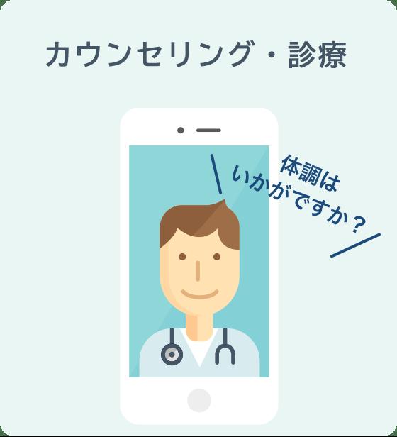 オンライン診療・カウンセリング「クリニクス」STEP4:オンライン診療・カウンセリング